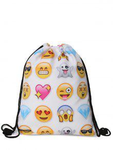 مضحك الرموز التعبيرية طباعة الرباط حقيبة - الأبيض والأصفر