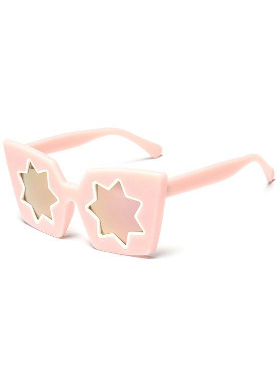 Estrella geométrica marco espejo reflejo gafas de sol - Rosa