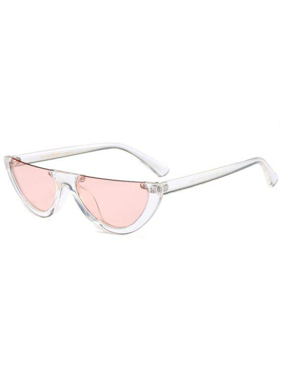 women Semilunar Semi-Rimless Sunglasses - PINK