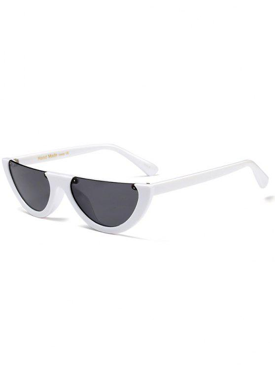 sale Semilunar Semi-Rimless Sunglasses - WHITE