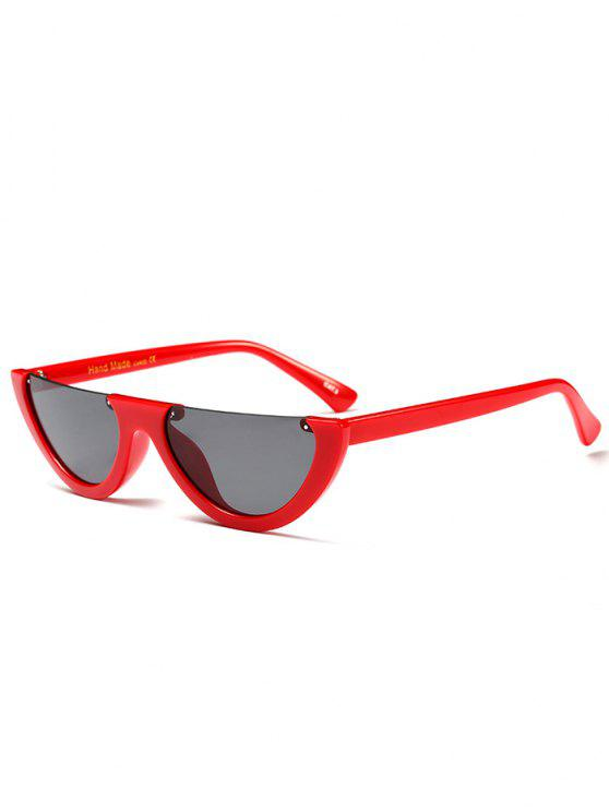 Semilunar Semi-Rimless gafas de sol - Rojo