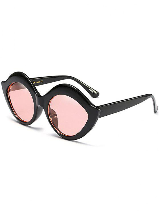 trendy Anti UV Lip Design Sunglasses - PINK