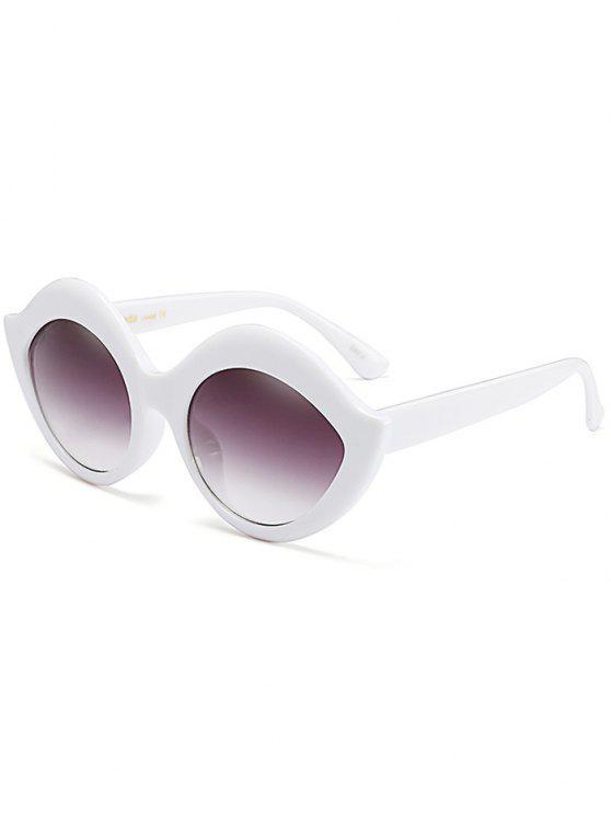 Gafas de sol Anti UV Lip Design - Blanco
