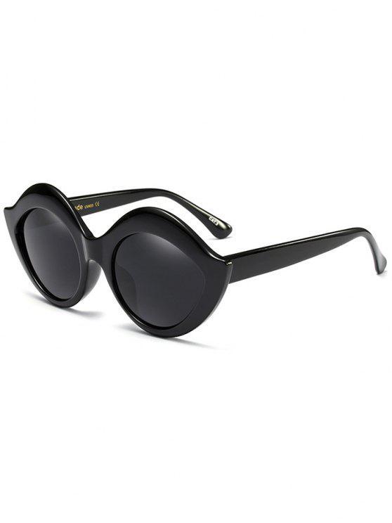 Anti UV Lip Design Óculos de sol - Preto