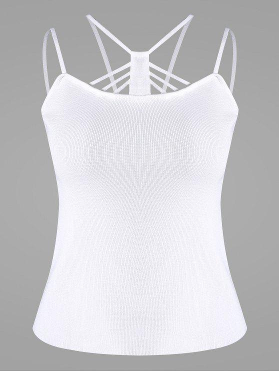 new Cami Knitted Tank Top - WHITE ONE SIZE