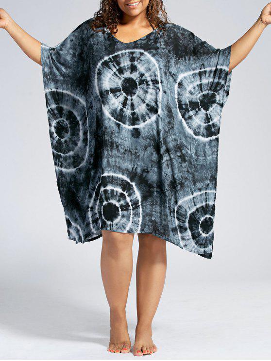 فستان الحجم الكبير باتوينغ الأكمام - أسود مقاس واحد