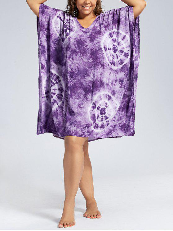 باتوينغ الأكمام بالاضافة الى حجم اللباس التستر - أرجواني حجم واحد