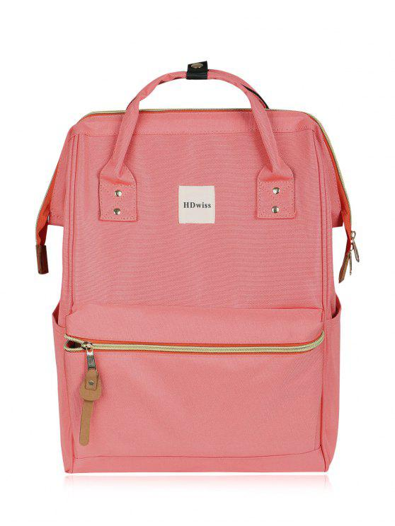 Casual Canvas Top Handle Backpack - Rosa