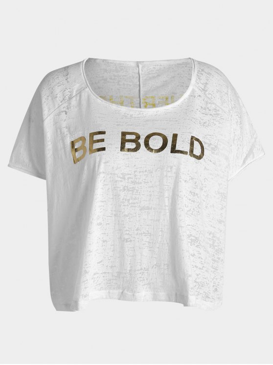 chic Be Bold Graphic Sports Top - WHITE ONE SIZE