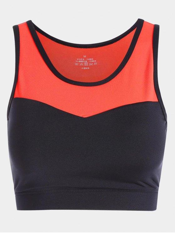 بلون راسيرباك حمالة الصدر الرياضية - البرتقالي M