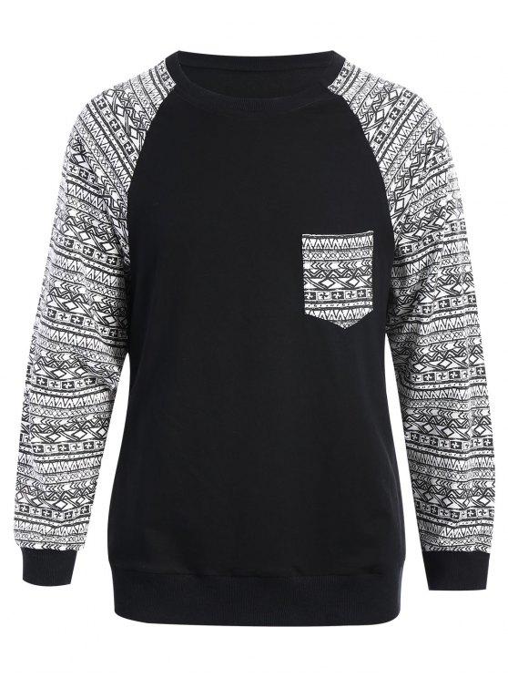 Sweat-shirt Imprimé - Noir M