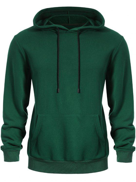 fancy Pullover Kangaroo Pocket Hoodie - GREEN L