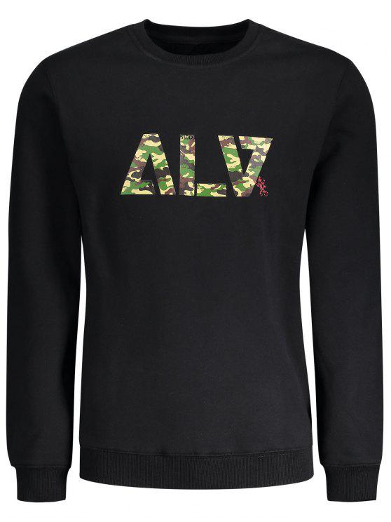 Sweat-shirt à Motif Camouflage - Noir XL