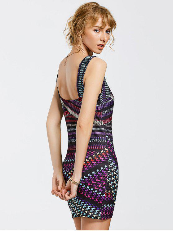 Vestido con estampado Mini Bodycon - Colormix S