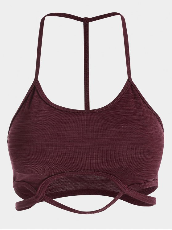 outfit Cutout Sports Bra - DARK RED L