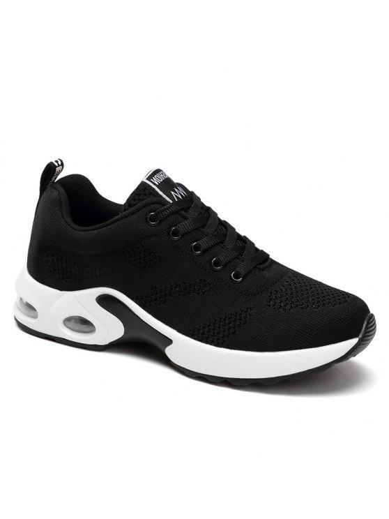 trendy Air Cushion Mesh Breathable Athletic Shoes - BLACK 38