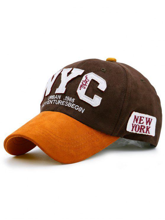قبعة البيسبول مع كتلة اللون - ديب براون