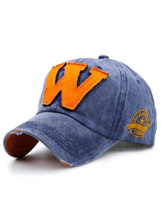 letter w embellished make baseball hat blue hats zaful