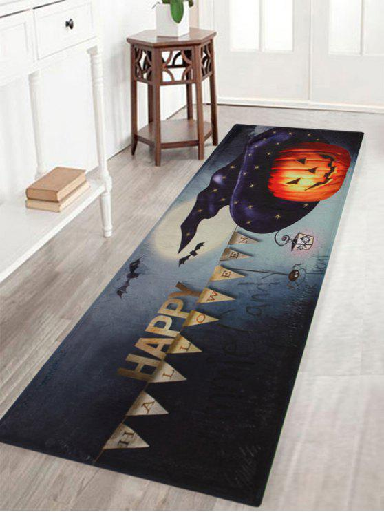 shops Happy Halloween Pumpkin Pattern Water Absorption Area Rug - COLORMIX W16 INCH * L47 INCH
