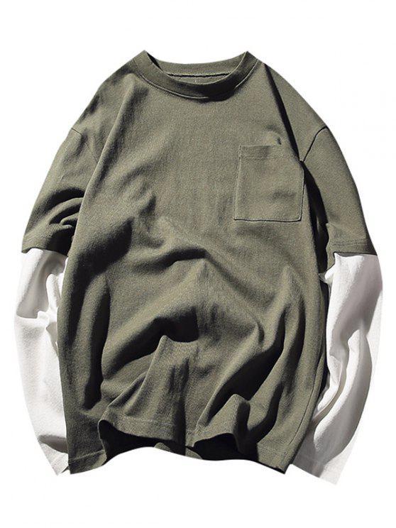 تيه طاقم الملاحة بجيب - أخضر XL