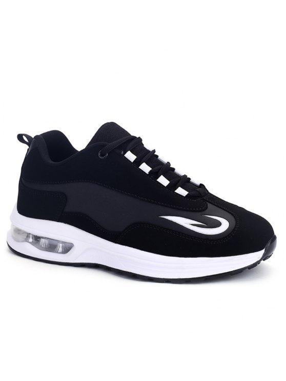 shops Air Cushion Breathable Athletic Shoes - BLACK 39