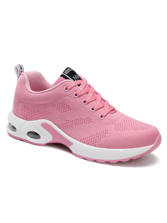 womens Air Cushion Mesh Breathable Athletic Shoes - PINK 37