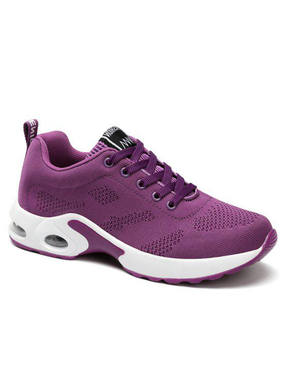 lady Air Cushion Mesh Breathable Athletic Shoes - PURPLE 37