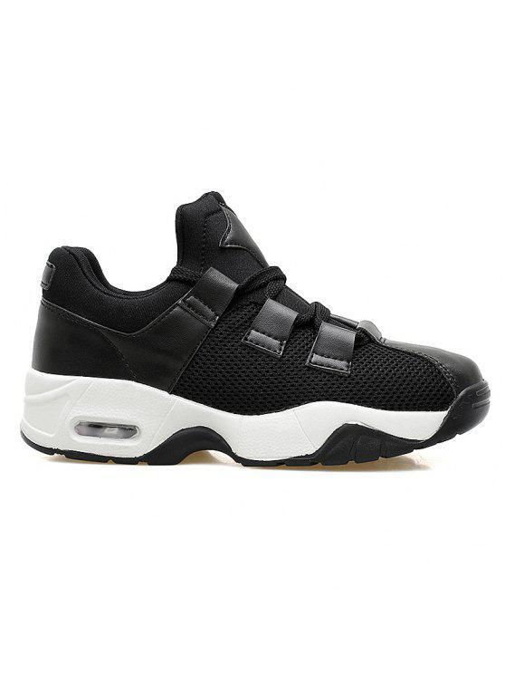 شبكة تنفس وسادة الهواء الأحذية الرياضية - أسود 42