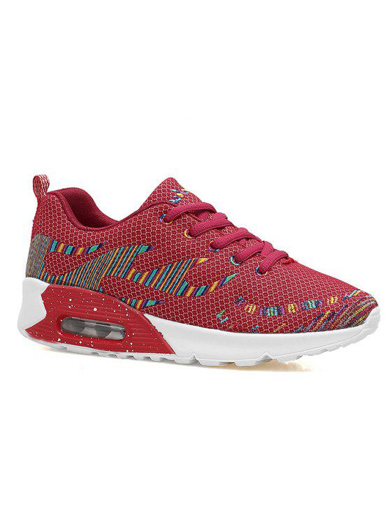 Couro Multicolor Air Athletic Shoes - Vermelho 37