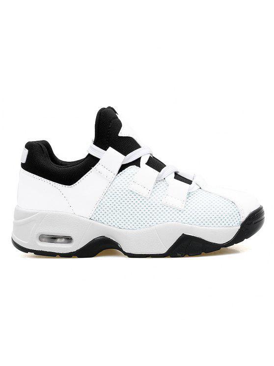 شبكة تنفس وسادة الهواء الأحذية الرياضية - أبيض 42