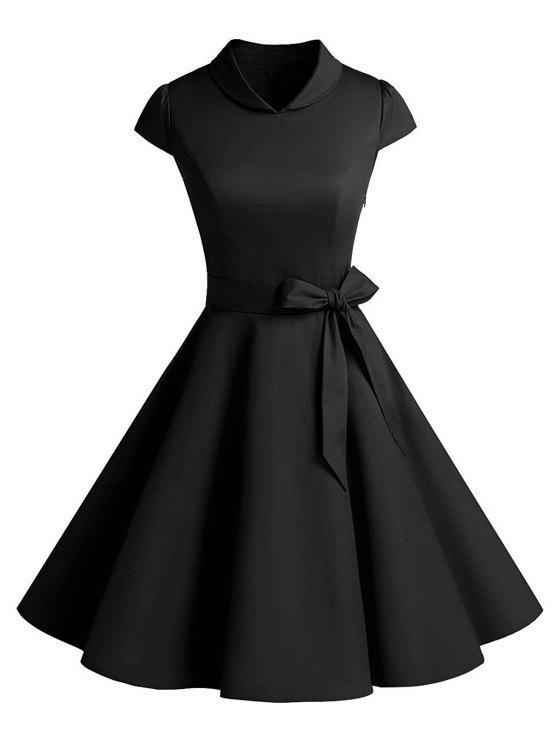 فستان كلاسيكي حفلة سوينغ - أسود XL