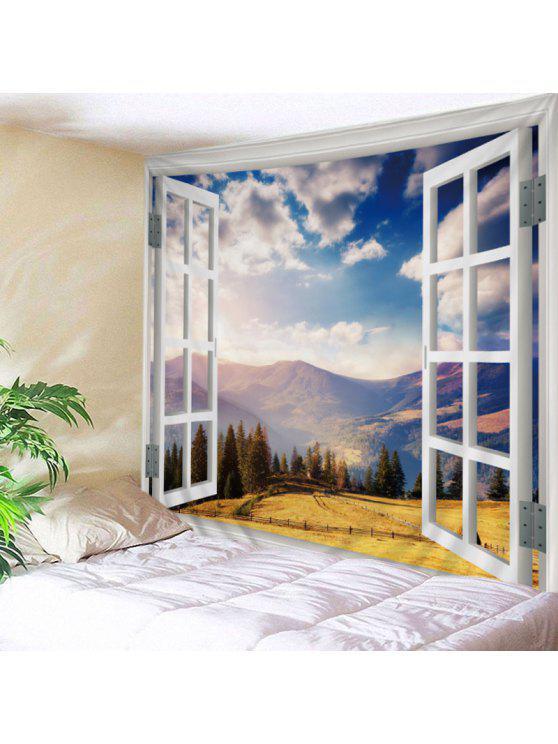 الجدار شنقا الفن ديكور النافذة موتين عرض طباعة نسيج - مزيج ملون W59 بوصة * L51 بوصة