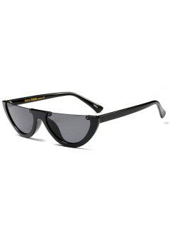 Semilunar Semi-Rimless Sunglasses - Black