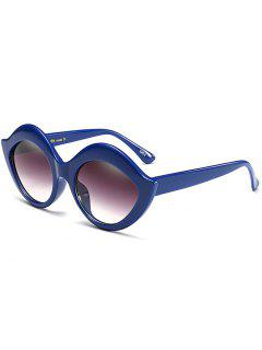 Anti UV Lip Design Sunglasses - Blue