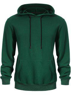 Pullover Kangaroo Pocket Hoodie - Green 3xl