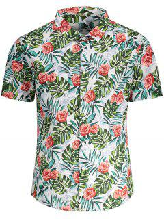 Camiseta Manga Corta De Monstera - Floral 2xl