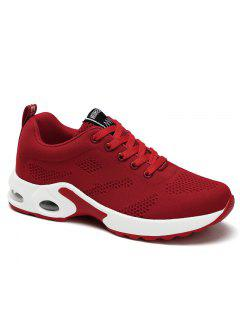 Air Cushion Mesh Breathable Athletic Shoes - Red 37