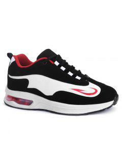 Air Cushion Breathable Athletic Shoes - Red With Black 38