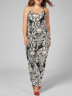 High Waisted Printed Plus Size Jumpsuit - Multi 5xl