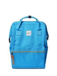 Casual Canvas Top Handle Backpack - Windsor Blue