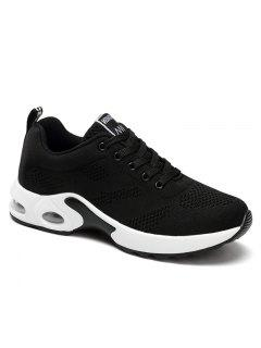 Air Cushion Mesh Breathable Athletic Shoes - Black 38