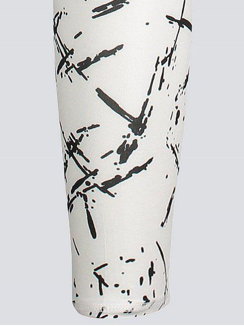 sale Active Abstract Fit Leggings - WHITE L Mobile