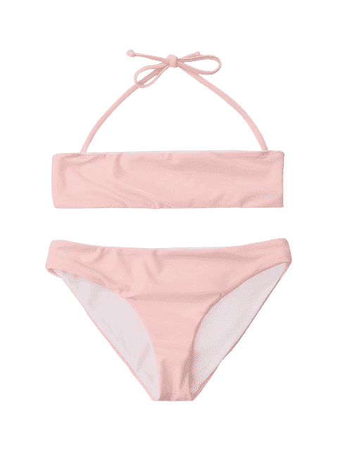 outfits Kids Halter Bikini Set - PINK 8T Mobile