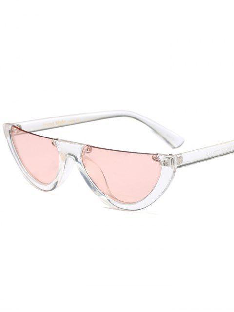 women Semilunar Semi-Rimless Sunglasses - PINK  Mobile