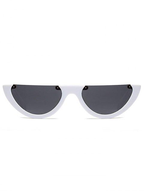 sale Semilunar Semi-Rimless Sunglasses - WHITE  Mobile