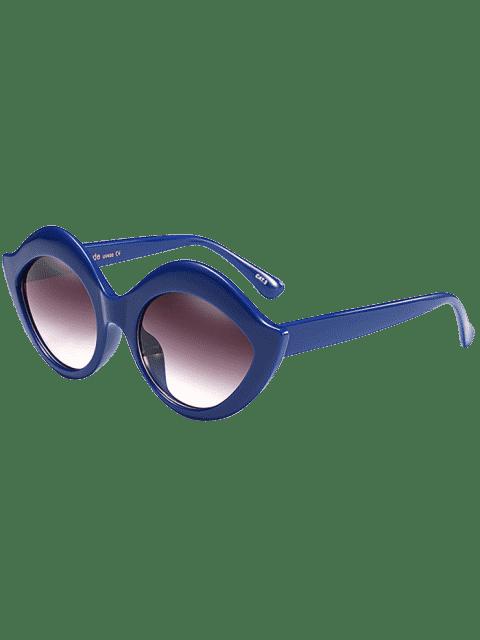 chic Anti UV Lip Design Sunglasses - BLUE  Mobile