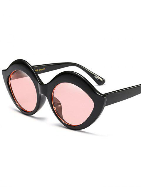 trendy Anti UV Lip Design Sunglasses - PINK  Mobile