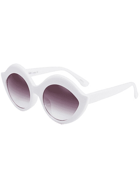 latest Anti UV Lip Design Sunglasses - WHITE  Mobile