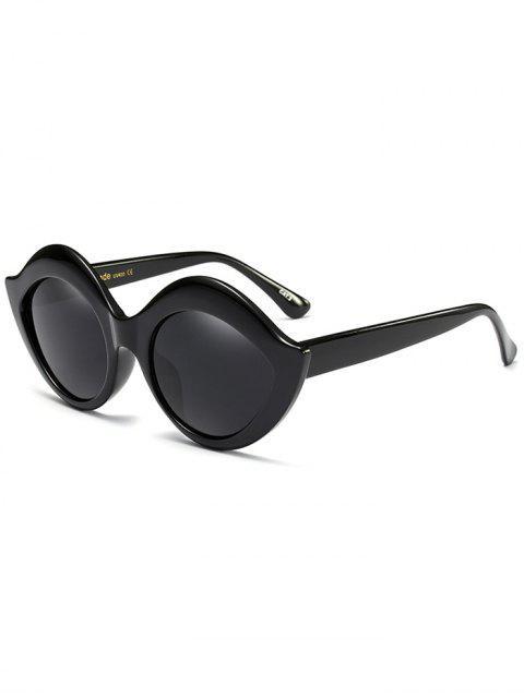 shops Anti UV Lip Design Sunglasses - BLACK  Mobile