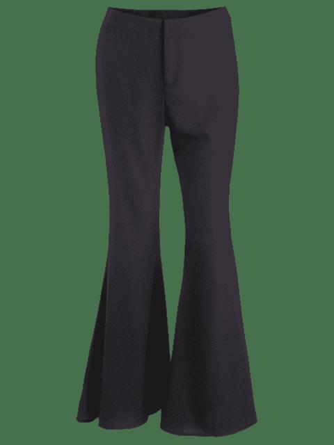 buy Black High Waist Flare Pants - BLACK S Mobile